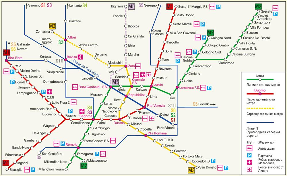 Метро в Милане – наиболее