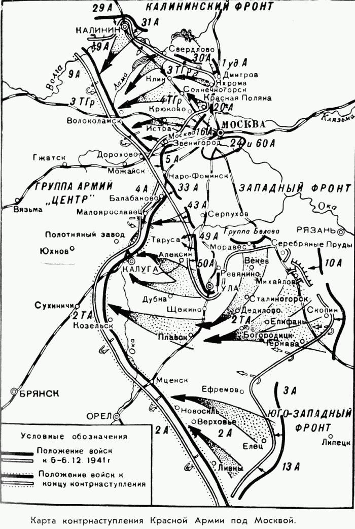 Карта контрнаступления Красной