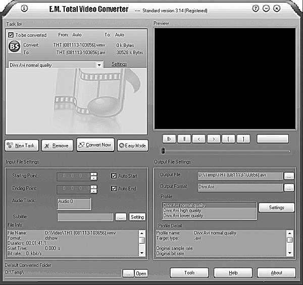 Как конвертировать видео в программе из одного формата в другой.